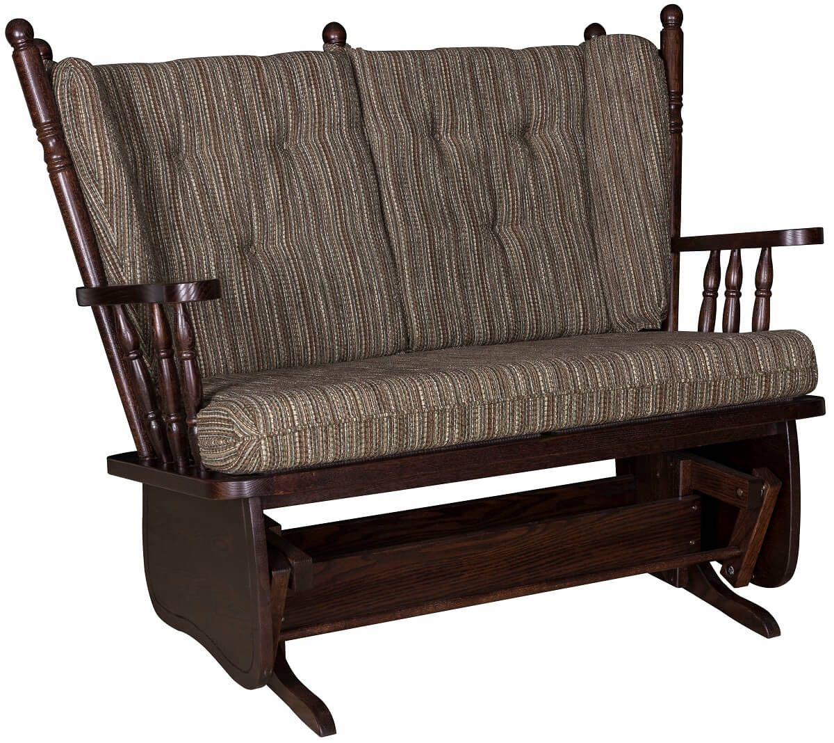 Oak Amish Made Gliding Love Seat