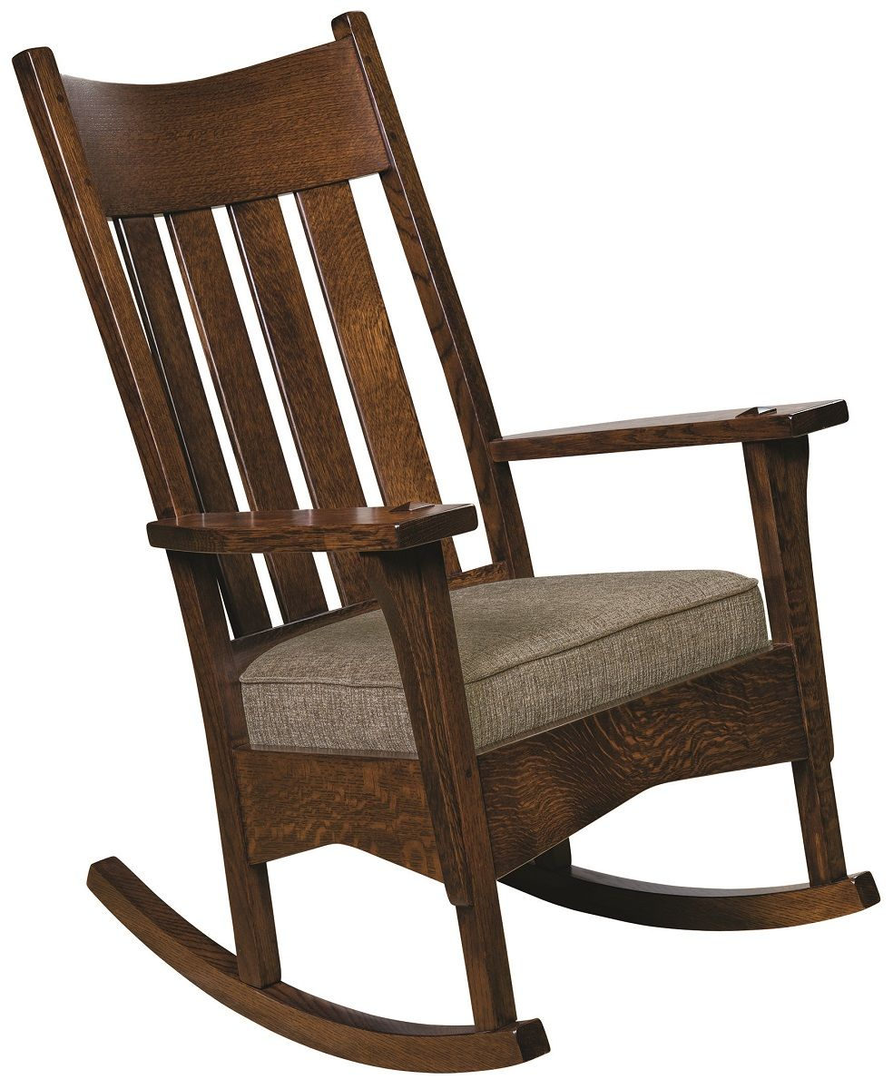 Mission Rocking Chair with Fabric Seat