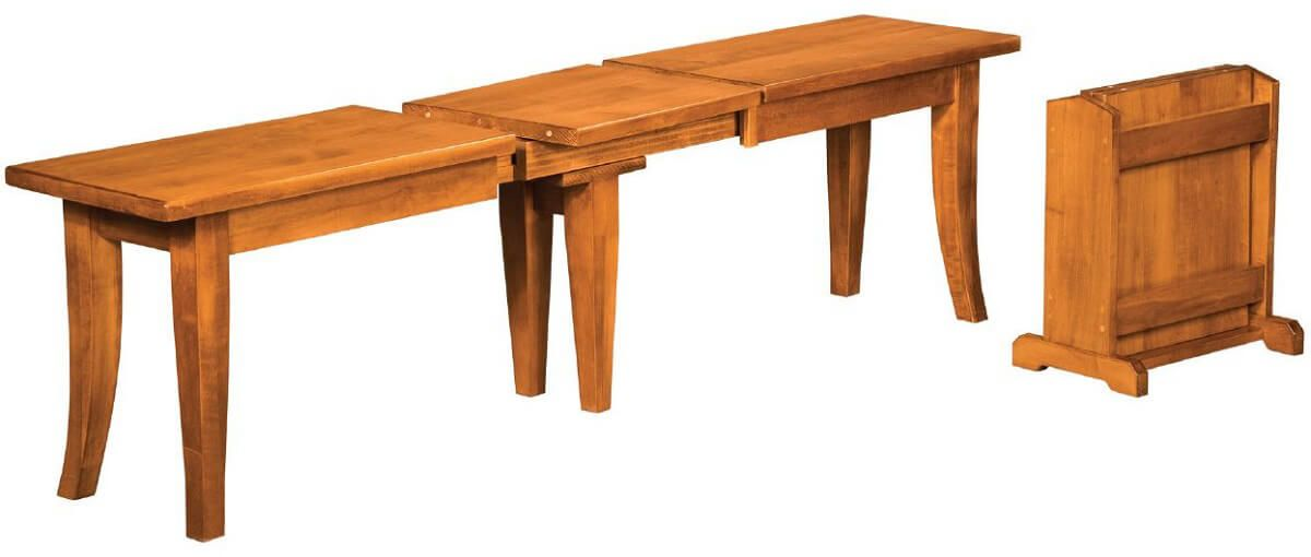 Alvar Extendable Bench in Brown Maple