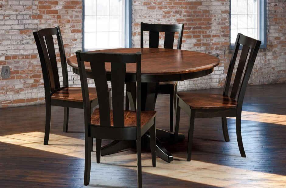 bronte transitional dining room set countryside amish furniture