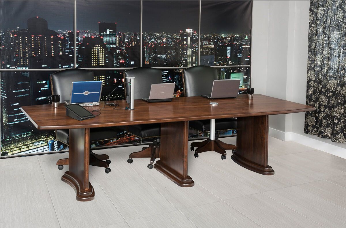 Brown Maple Boardroom Table