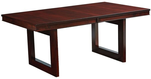 Lehigh Trestle Dining Table in Brown Maple