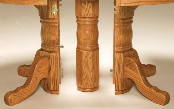 Split Pedestal Table Base Open