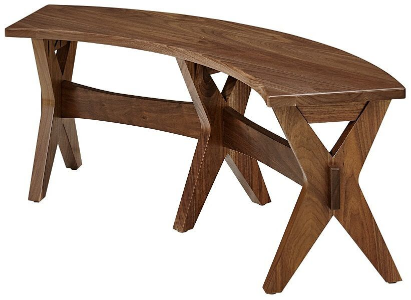 Saugus Mid Century Modern Bench Countryside Amish Furniture