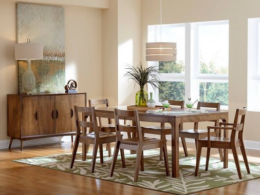 Sochi Scandinavian Dining Table Countryside Amish Furniture