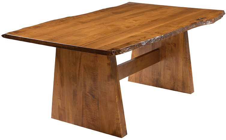 Accolades Live Edge Trestle Table