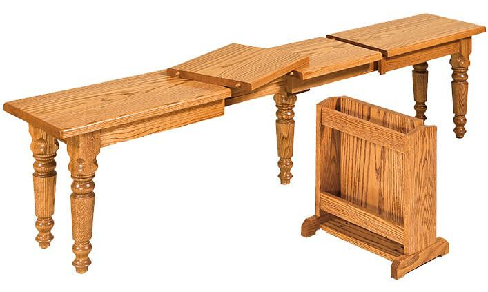 Bagby Extendable Dining Bench in Oak