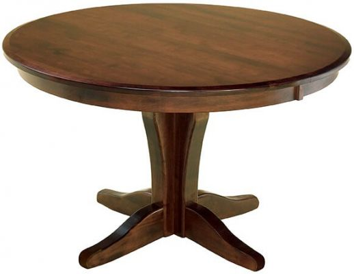 Bronte Single Pedestal Table in Brown Maple