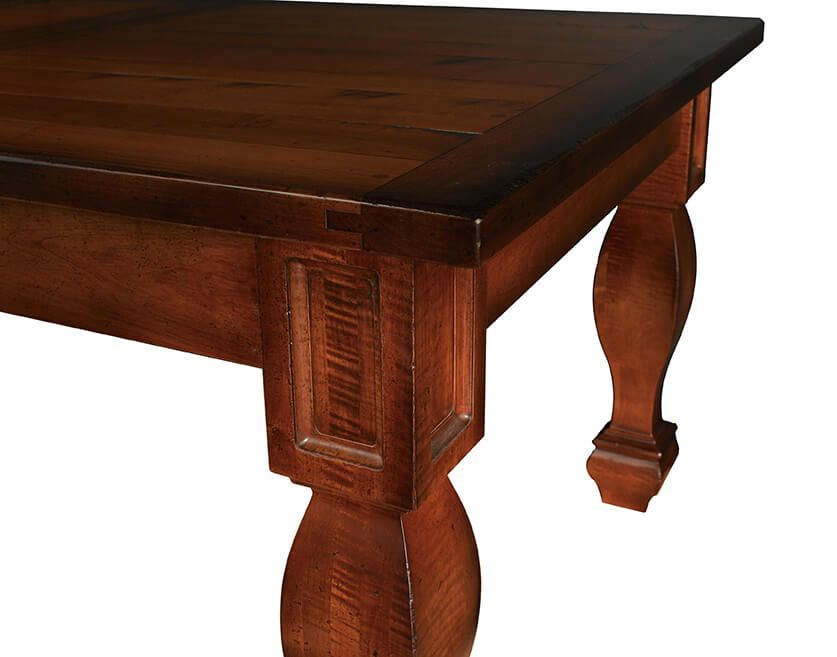 Cana Valley Plank Top Table breadboard end