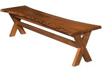 Contra Costa Live Edge Bench