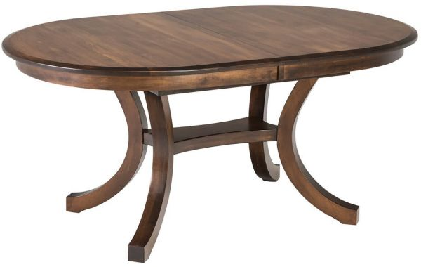 Fendi Oval Butterfly Table in Brown Maple