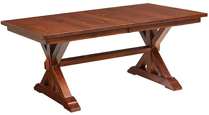 Lara Lake Trestle Table in Rustic Cherry
