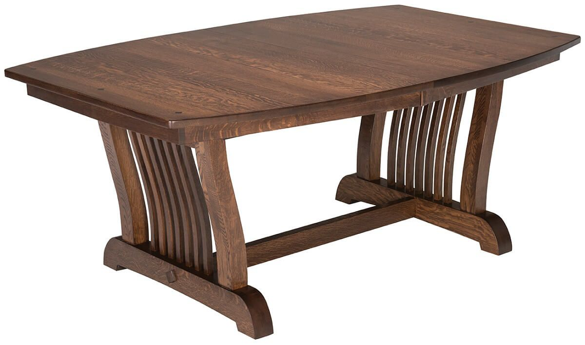 Laurel Mission Trestle Table