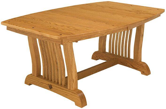 Laurel Mission Trestle Table in Oak