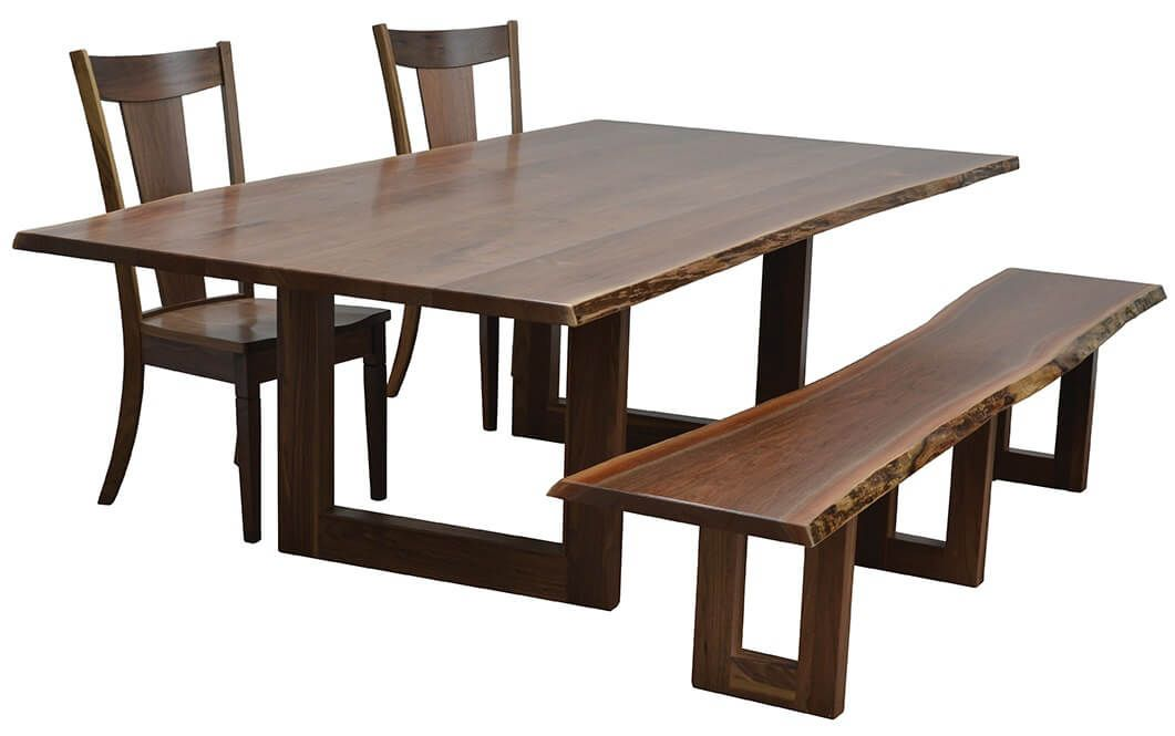 Shown with the Lehigh Live Edge Dining Table