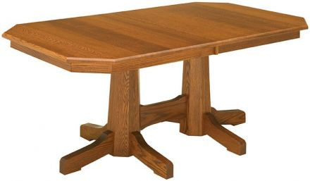 Double Pedestal Tables - Countryside Amish Furniture