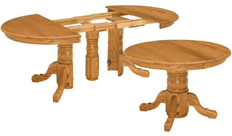 Amish Made Richmond Chairs: Richmond Hill Split Pedestal Table