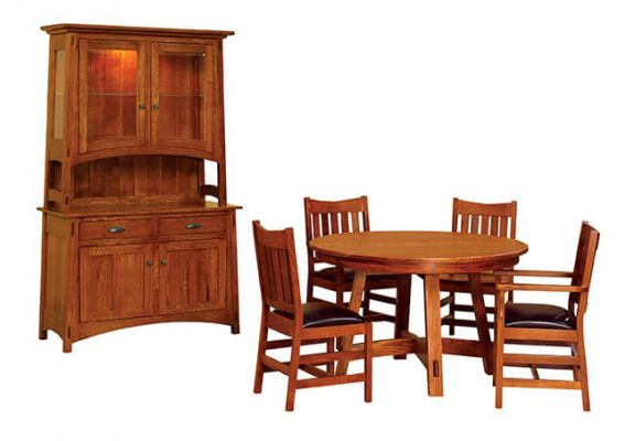 Shown with Rosales Dining Chairs and Rosales Hutch
