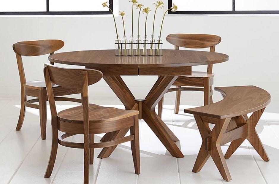 Pleasant Saugus Mid Century Modern Dining Set Countryside Amish Creativecarmelina Interior Chair Design Creativecarmelinacom
