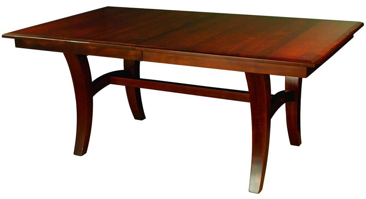 Serpico Trestle Table in Brown Maple