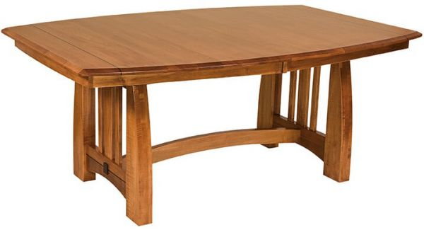 Simonds Craftsman Dining Table in Brown Maple