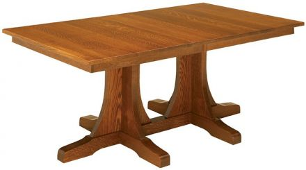 Springer Mountain Double Pedestal Table