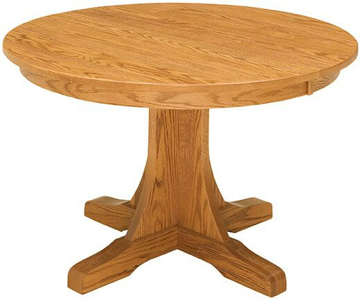 Springer Mountain Round Mission Table in Oak