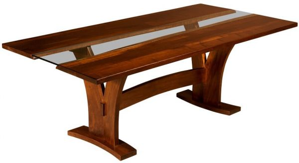 Syosset Modern Trestle Table Countryside Amish Furniture