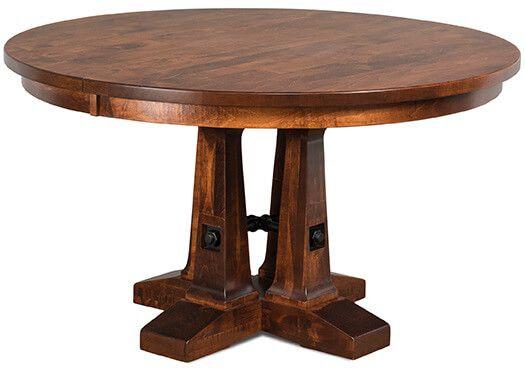 Walker's Point Pedestal Table in Brown Maple