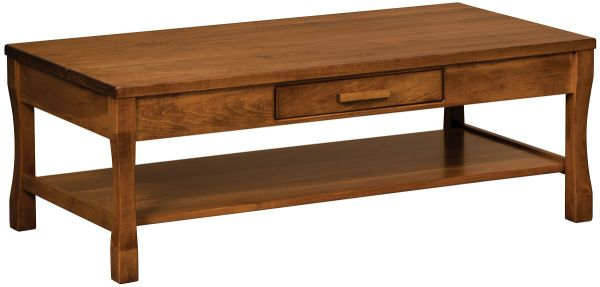 Calvin Open Hardwood Coffee Table Countryside Amish Furniture - Calvin coffee table
