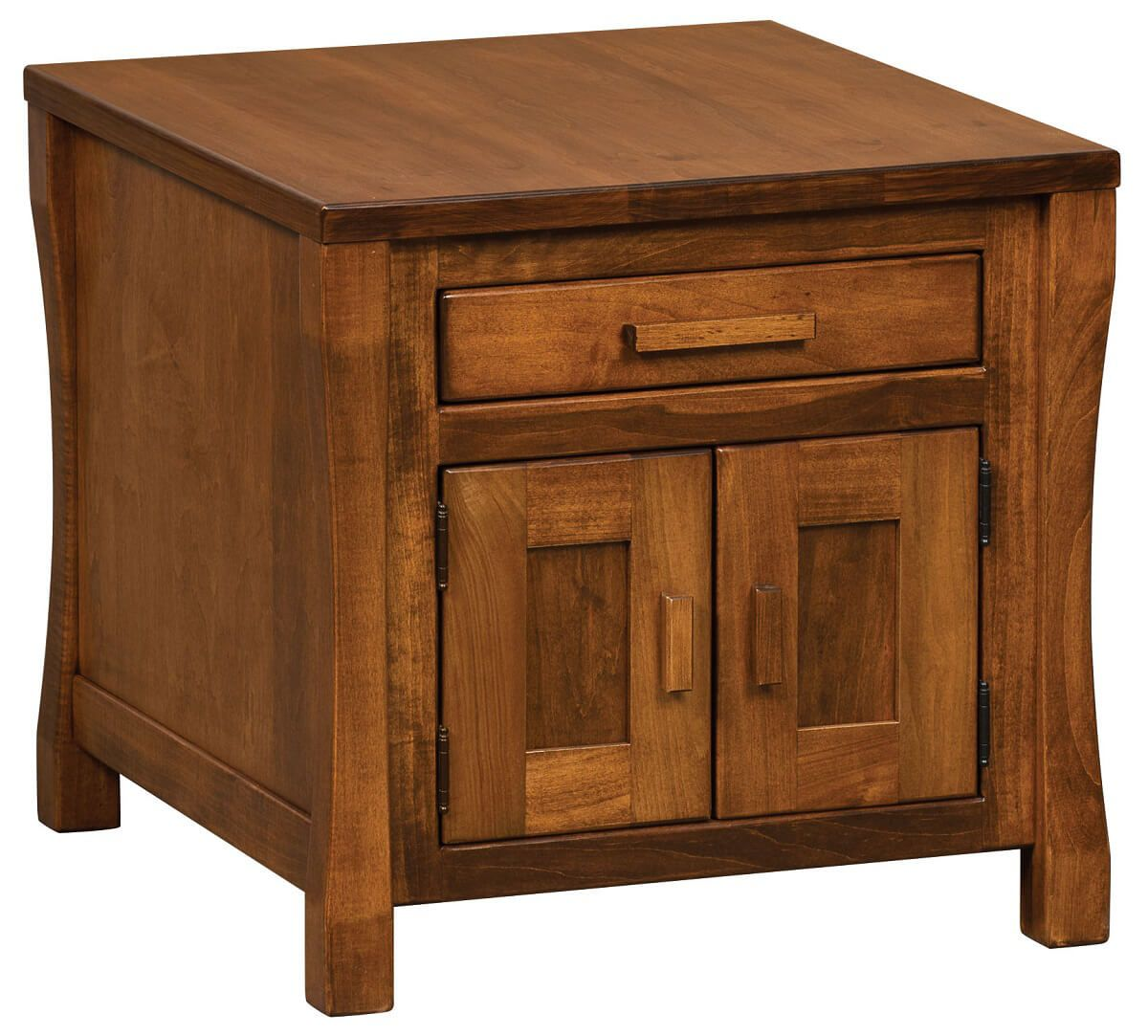 Brown Maple Calvin Storage End Table