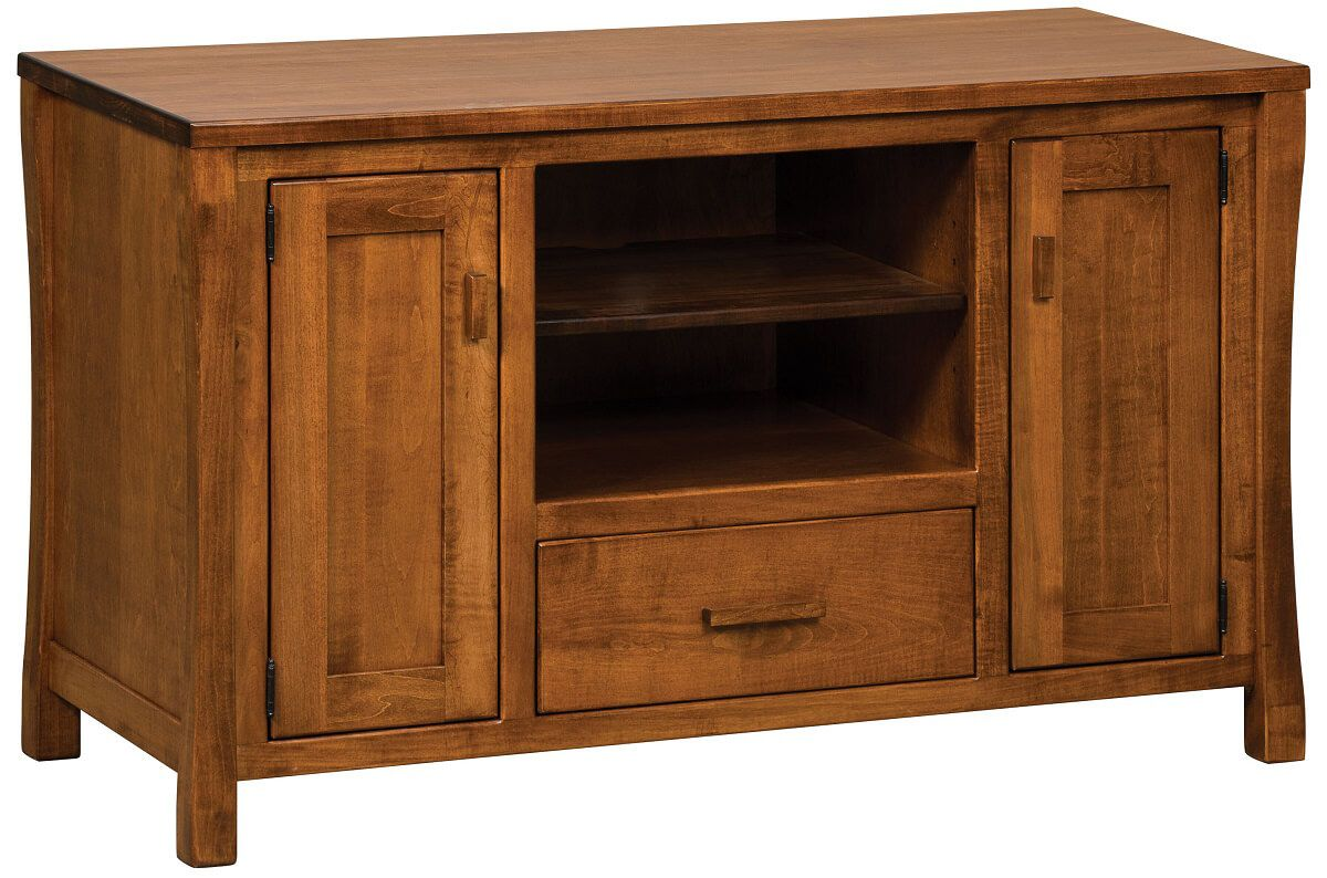 Brown Maple Calvin TV Stand with Storage