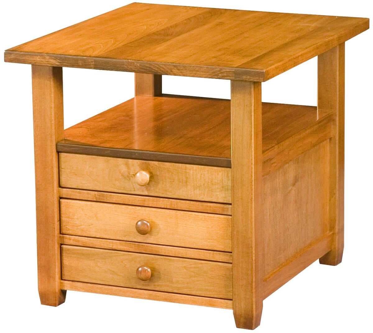 Clement End Table with storage
