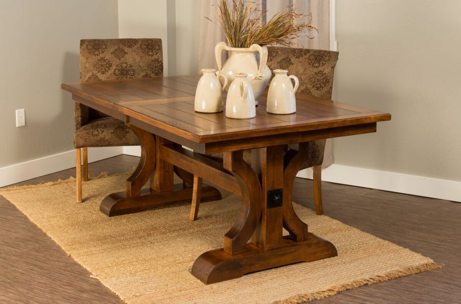 Dedon Rustic Dining Table Set image 1