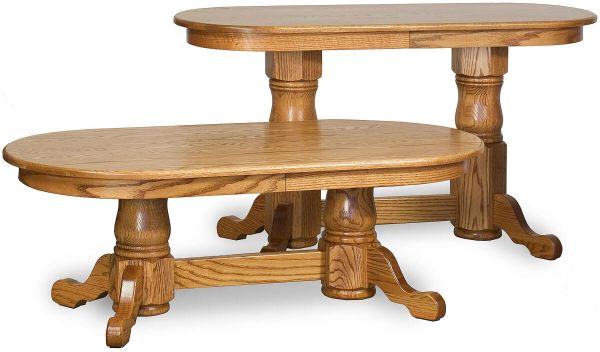 Hiram Double Pedestal Console Table and Coffee Table