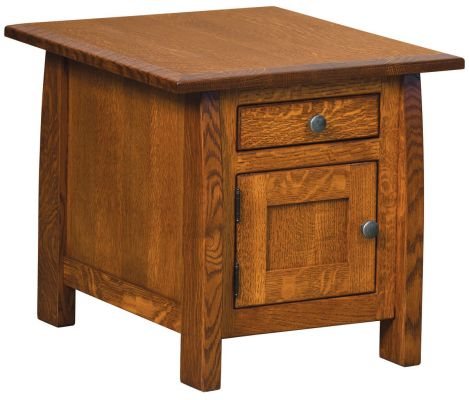 Manti Arts & Crafts Storage End Table