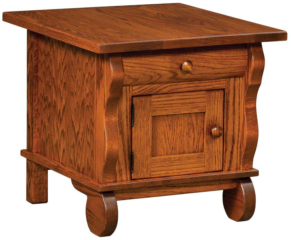 Rowena Storage End Table in Oak
