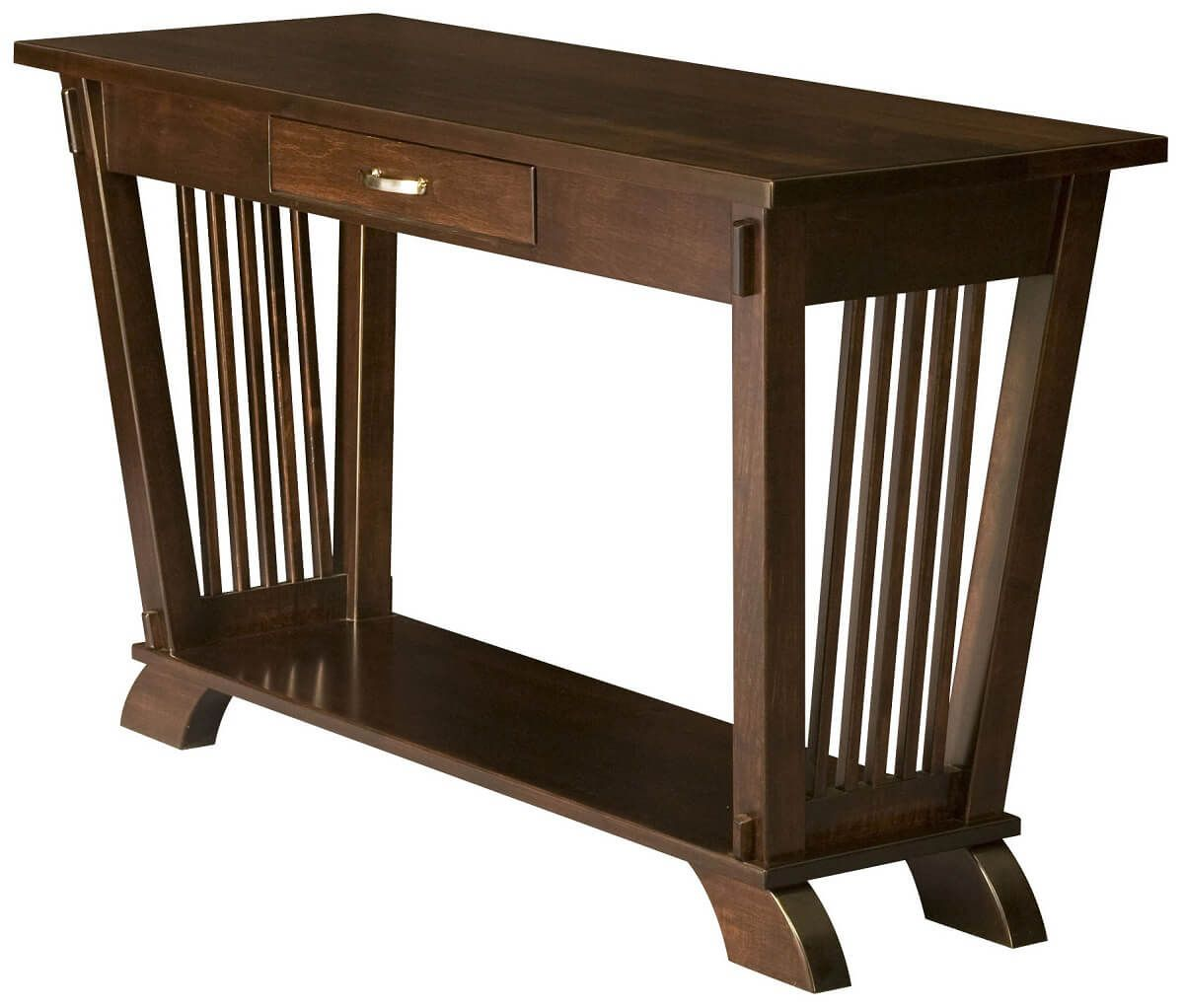Torrington Console Table in Brown Maple