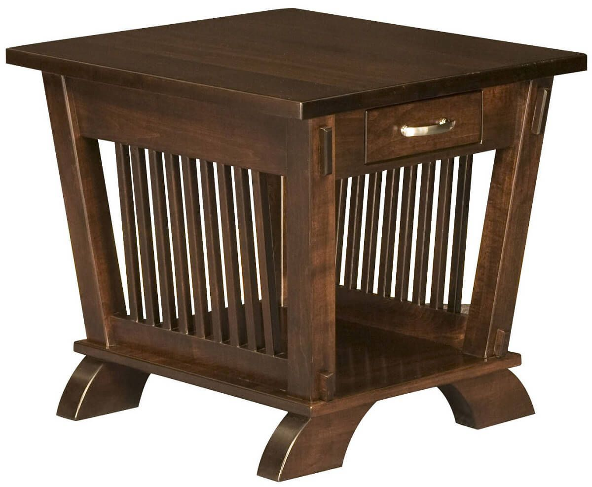 Torrington End Table in Brown Maple