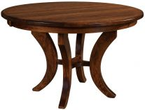 Round Pedestal Kitchen Table single pedestal tables - countryside amish furniture