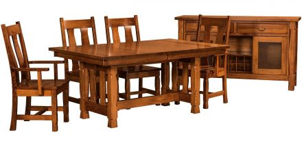 Solid Wood Trestle Tables
