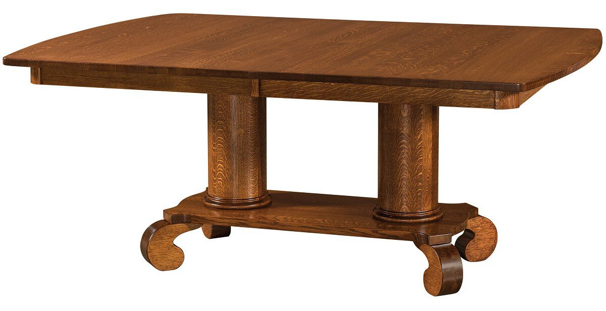 Lowel Double Pedestal Table
