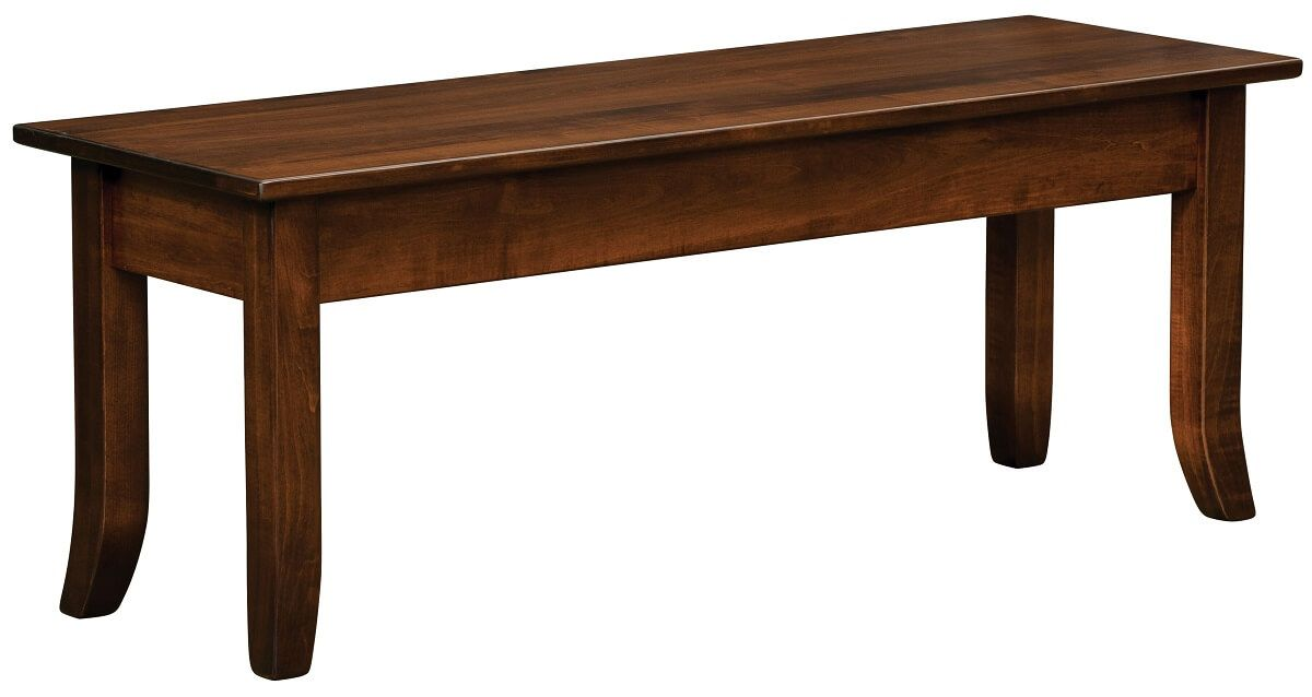 Adella Bench in Brown Maple