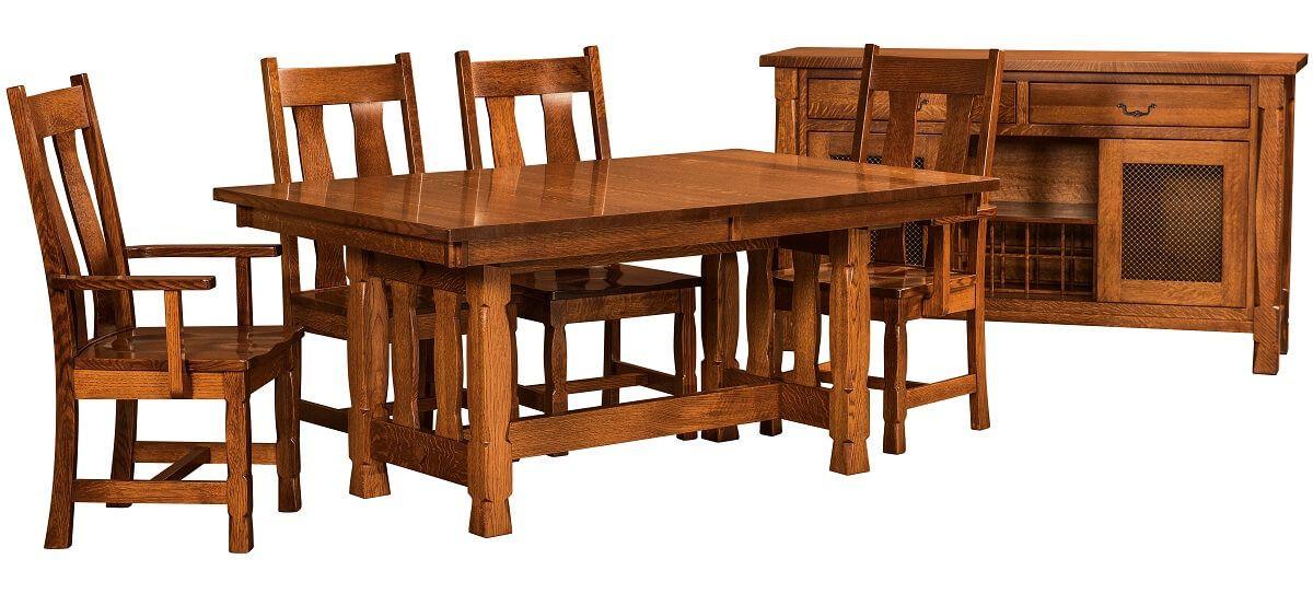 Quartersawn White Oak Dining Set