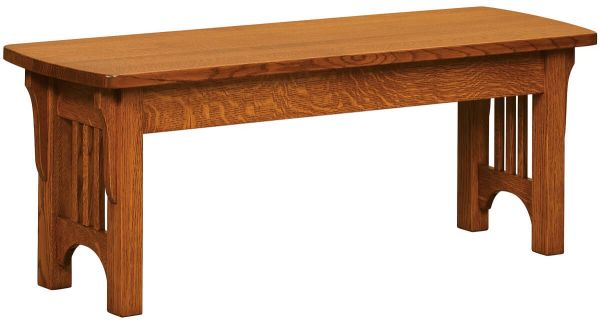 Copley Amish Craftsman Bench Countryside Amish Furniture