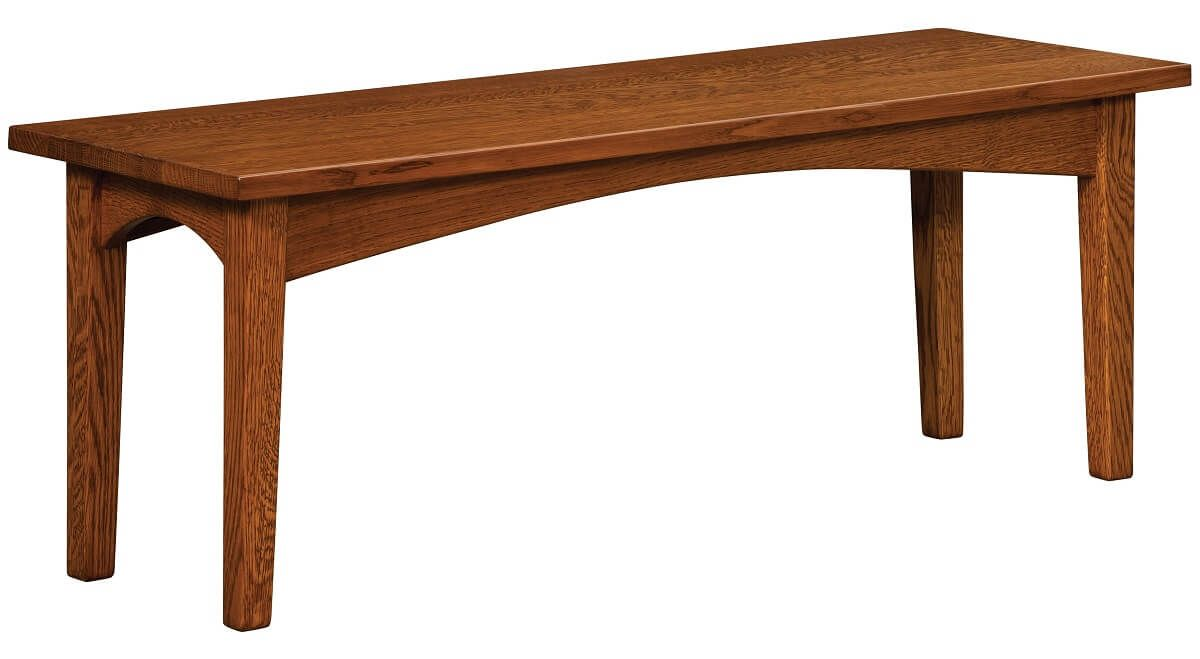 Gustav Bench in Quartersawn Oak