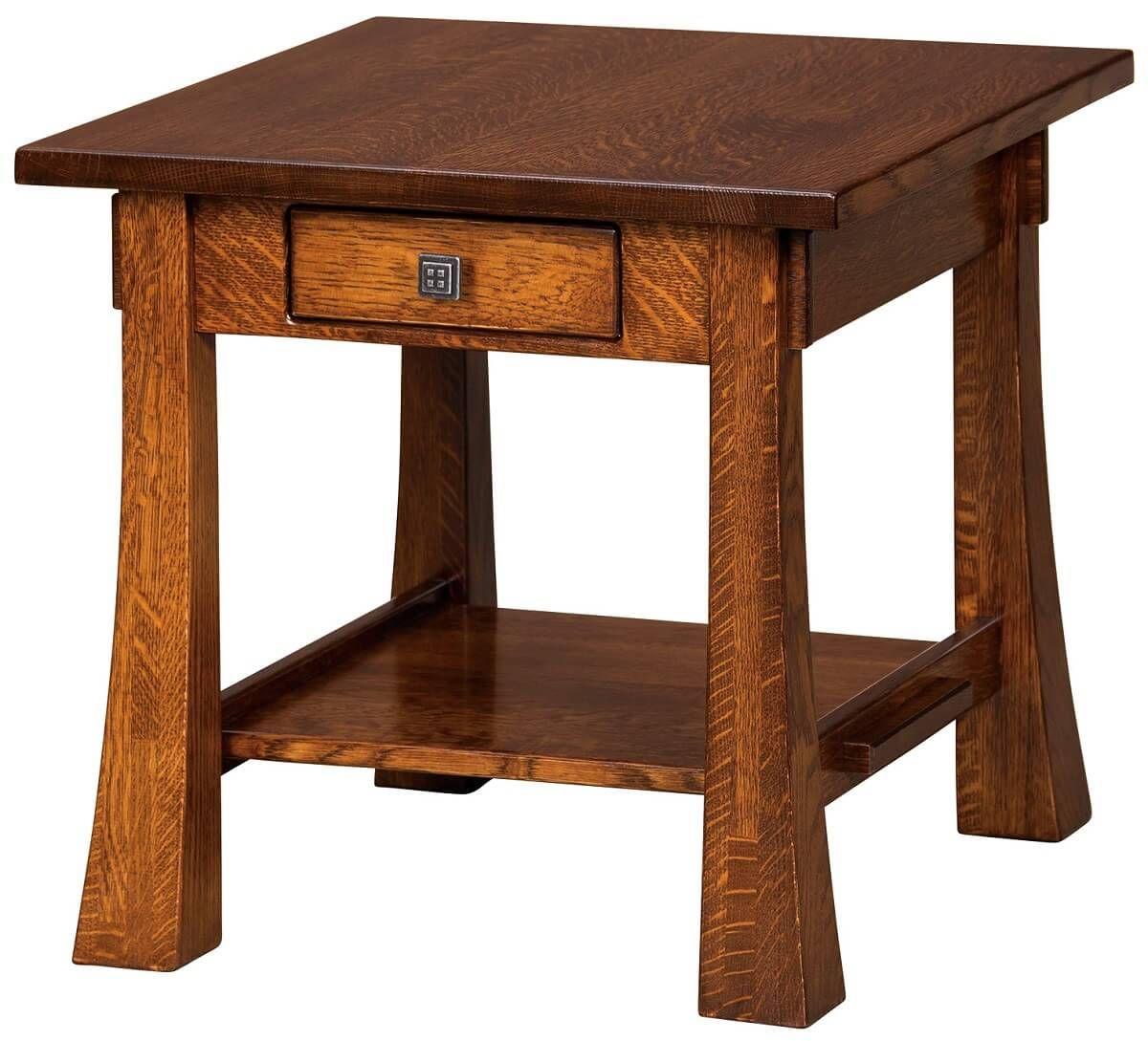 Lassen End Table in Quartersawn White Oak