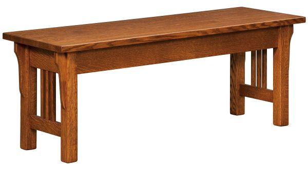 Zaynah Bench in Quartersawn Oak