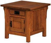 Zaynah Enclosed End Table
