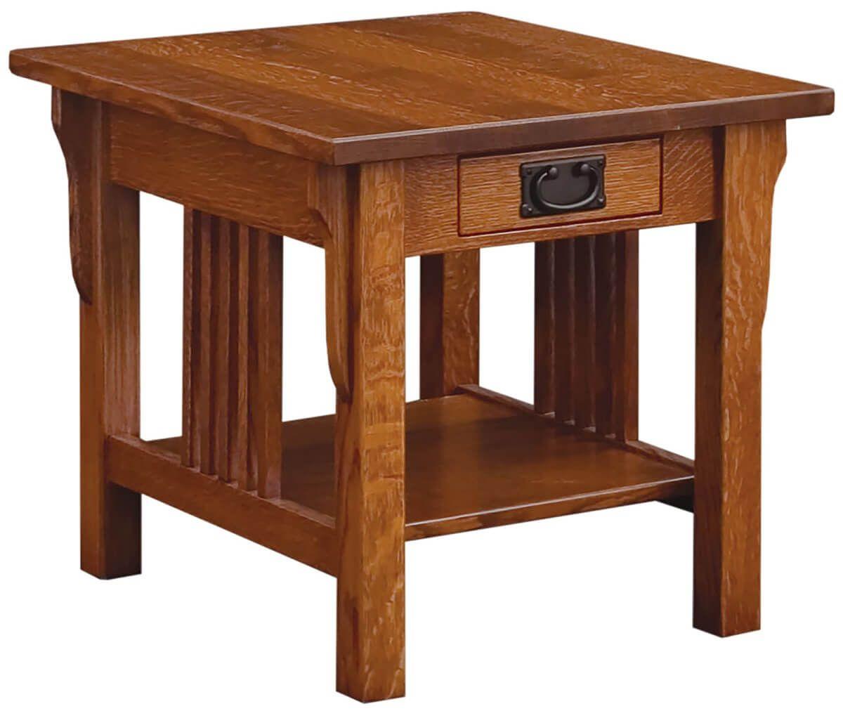 Zaynah Quartersawn Oak End Table